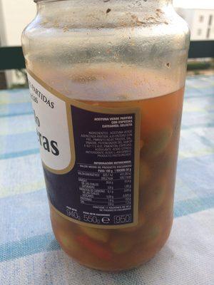"""Aceitunas verdes partidas con especias """"Estilo Caseras"""" - Ingredients"""