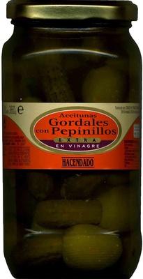 Aceitunas gordales con pepinillos en vinagre - Producto