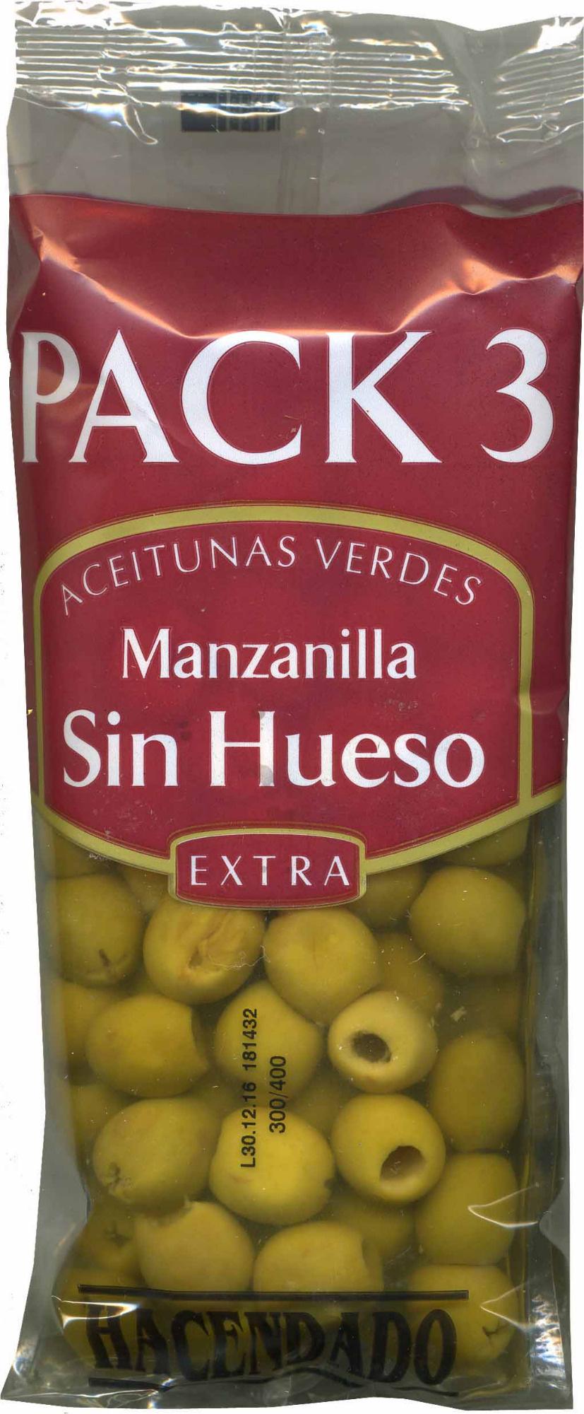 """Aceitunas verdes deshuesadas """"Hacendado"""" Variedad Manzanilla - Product"""