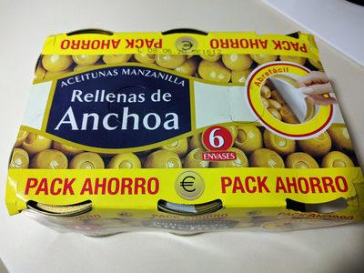 Aceitunas manzanilla rellenas de anchoa - Producto - es