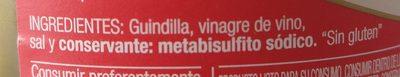 Guindillas en vinagre - Ingredientes