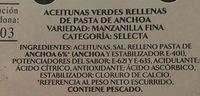 Oliven, Grün, Anchoa, Olive - Ingredientes