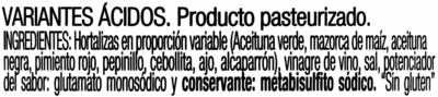 Cóctel de encurtidos - Ingredients