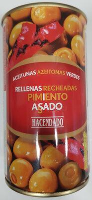 Aceitunas verdes rellenas de pimiento asado - Product