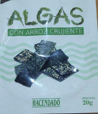 Algas Con Aroz Crujiente - Producto