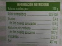 Algas Con Aroz Crujiente - Información nutricional