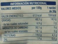 Algas con semillas de sésamo - Informació nutricional