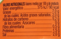 Aceitunas Gordales con Pepinillo en vinagre - Informació nutricional