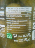 Pepinillos extra en vinagre - Informations nutritionnelles - es