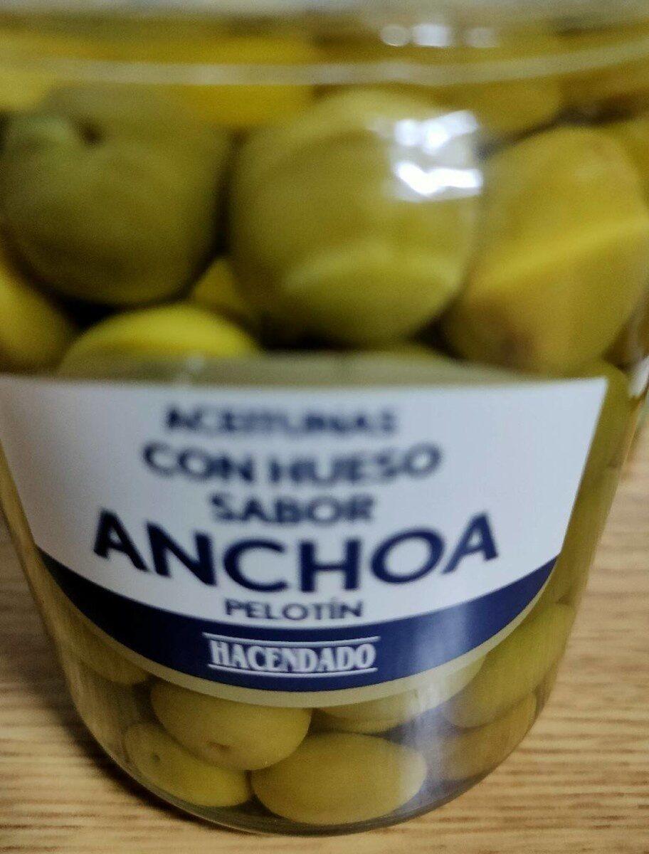 Aceitunas con hueso sabor anchoa.Pelotin - Product - es