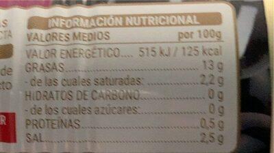 Aceitunas negras sin hueso - Valori nutrizionali - es