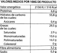 Patatas fritas extra crujientes - Informació nutricional - es
