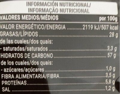 Patatas Extracrunch - Nutrition facts
