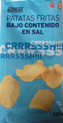 Patatas fritas lisas bajo contenido en sal