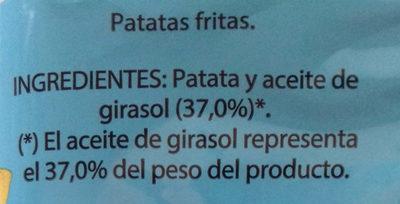 Patatas fritas bajo contenido en sal - Ingredientes