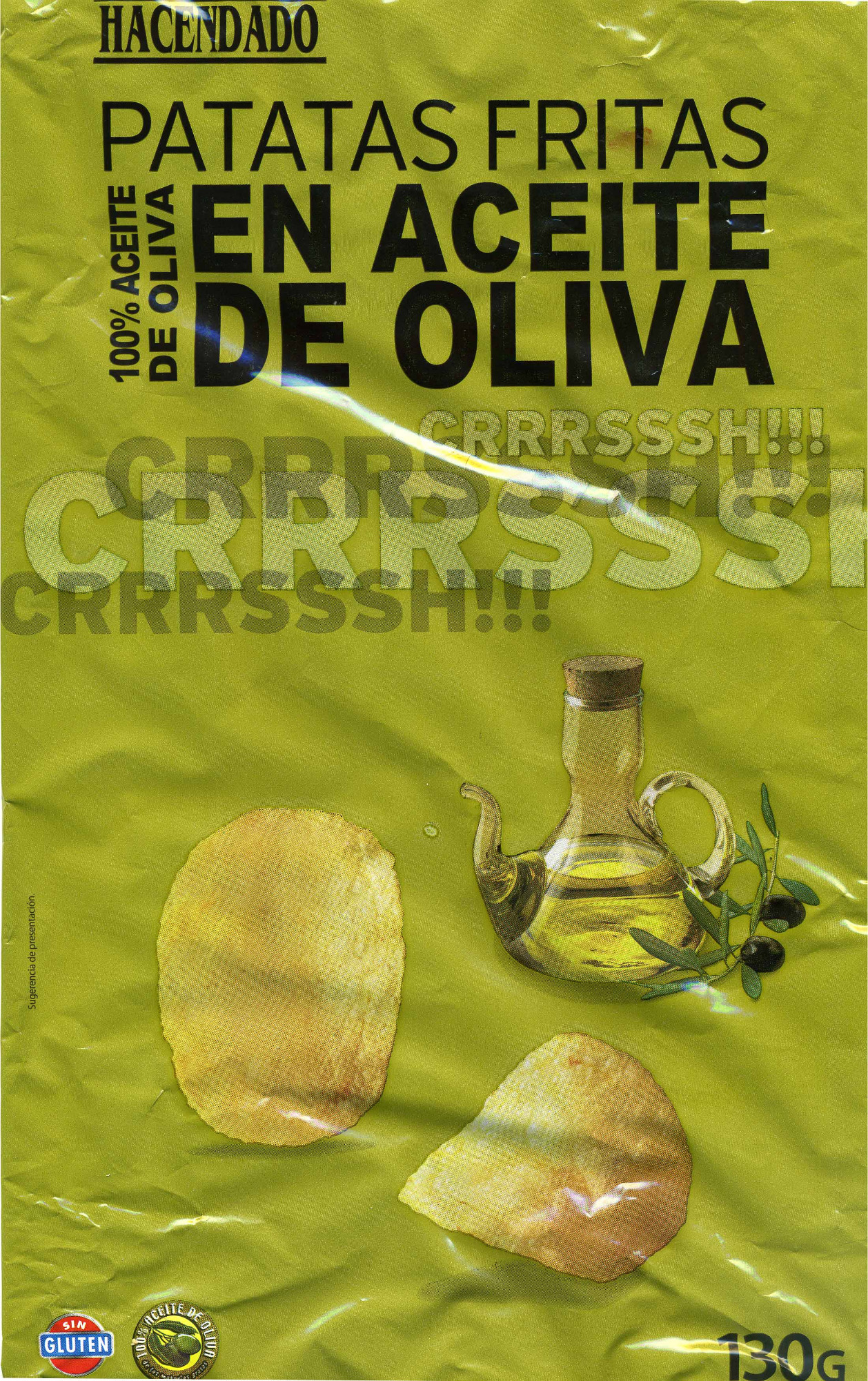 """Patatas fritas lisas """"Hacendado"""" en aceite de oliva - Producte"""