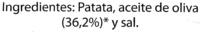 """Patatas fritas lisas """"Hacendado"""" en aceite de oliva - Ingredients"""