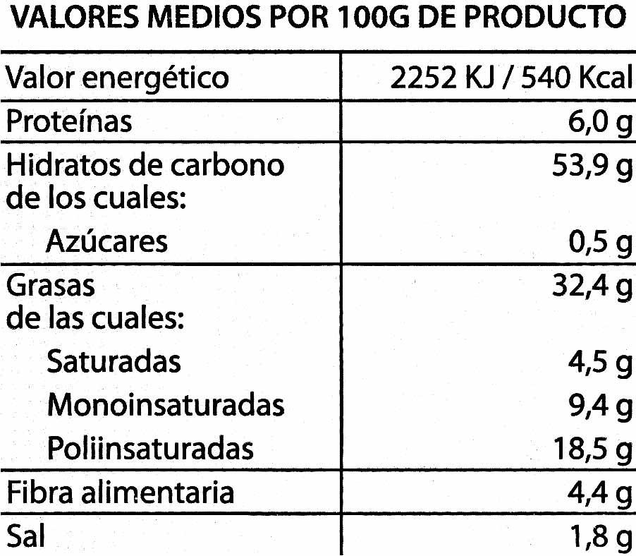 Patatas fritas lisas al punto justo de sal - Informations nutritionnelles - es