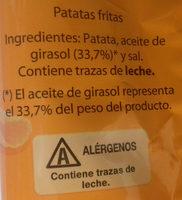 Patatas fritas onduladas - Ingrediënten