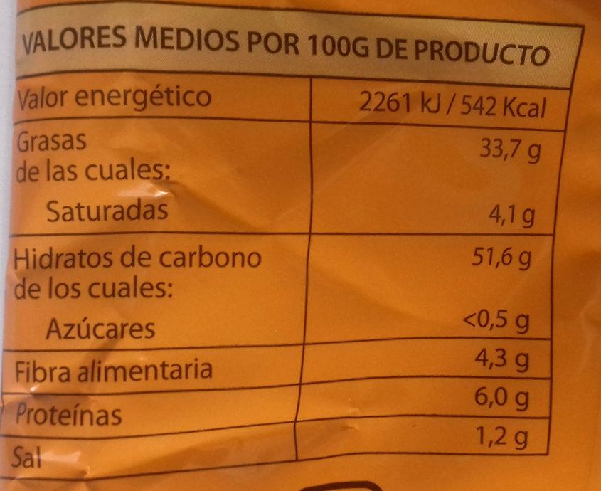 Patatas fritas onduladas - Voedingswaarden