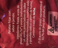 Chips ondulées jambon - Ingredientes