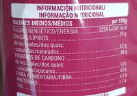 Patatas fritas sabor serrano - Informations nutritionnelles