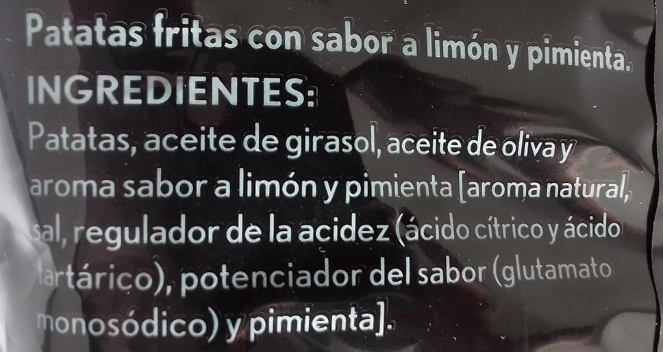 Patatas lemon & pimienta - Ingrédients - es