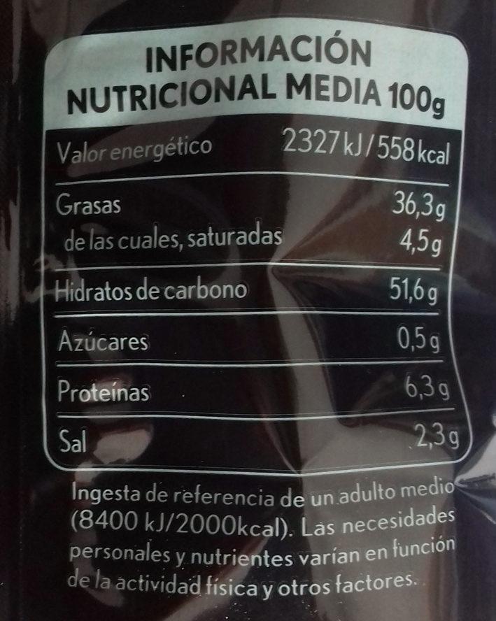 Patatas fritas sabor limon & pimienta - Información nutricional