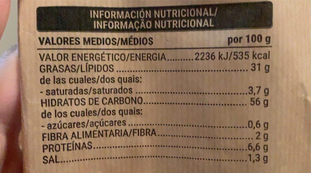 Patatas fritas tradicionales - Nutrition facts - es
