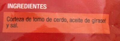 Cortezas - Ingredients - fr