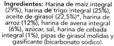 Snacks 5 cereales - Ingredients - es