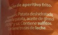 Patatas Chips - Ingredientes