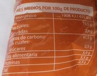 Patatas Chips - Información nutricional