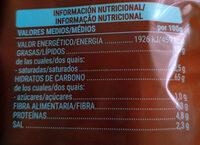 Patatas fritas light - Informació nutricional - es