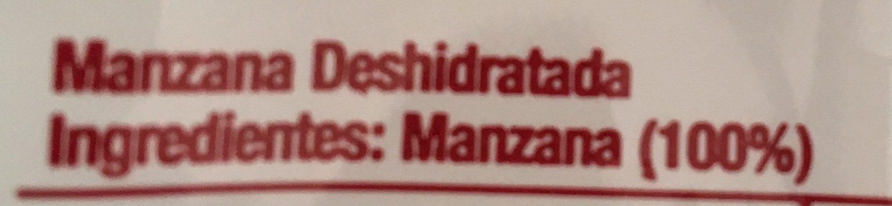 Manzana Deshidratada - Ingrédients - es