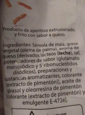 Cuquitos - Ingredientes - es