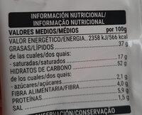 Cuquitos - Informació nutricional - es