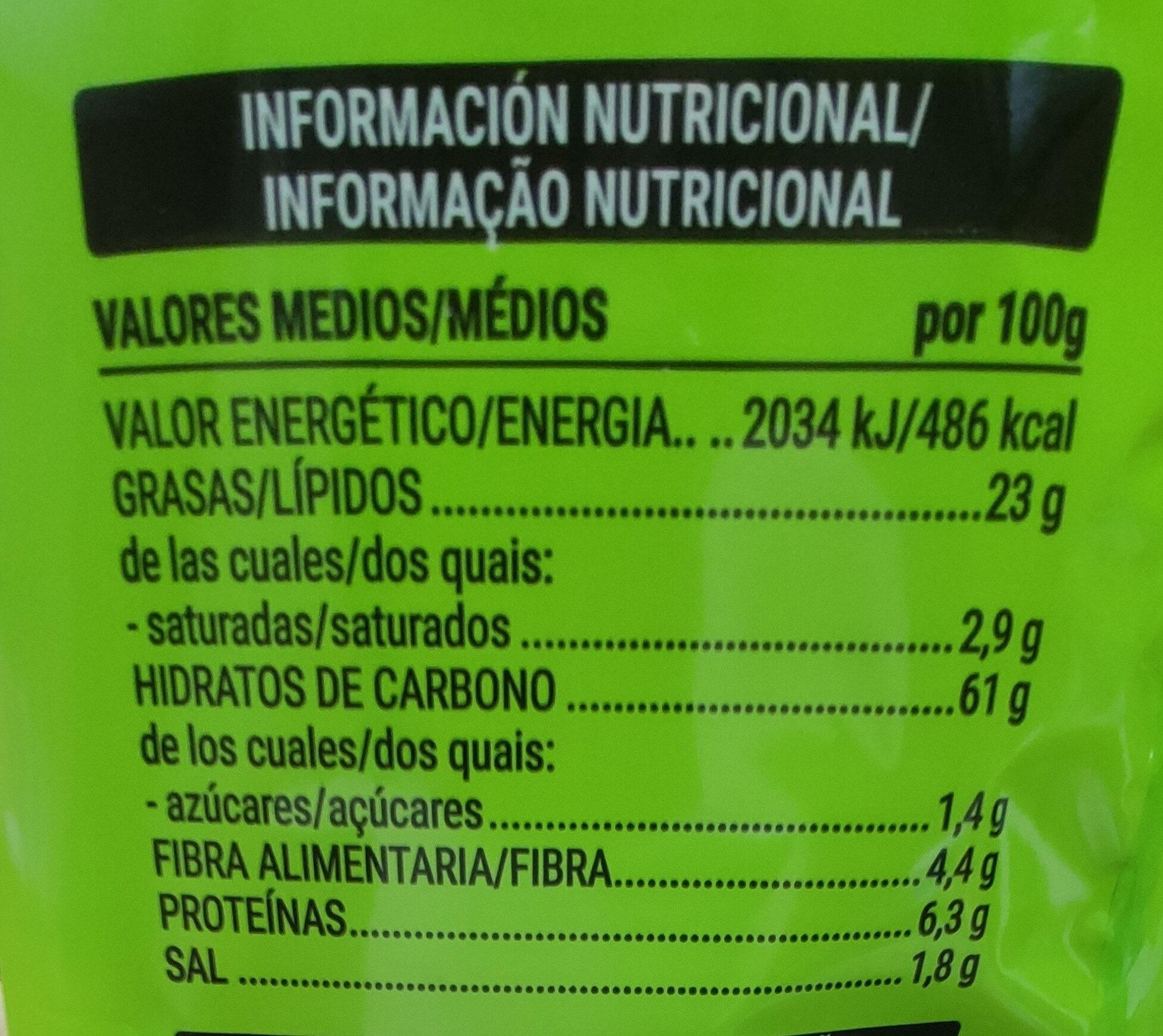 Cuquis - Información nutricional