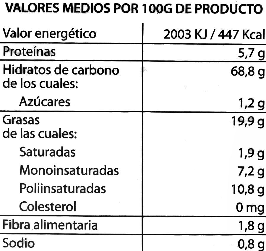 Cuquis Hacendado - Nutrition facts