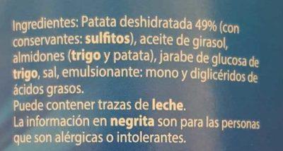 Patata Snack - Ingredientes