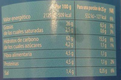 Patata Snack - Información nutricional