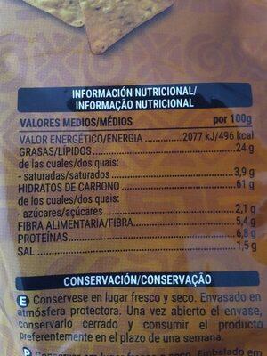 Tortitas de maíz tex-mex - Voedingswaarden - es