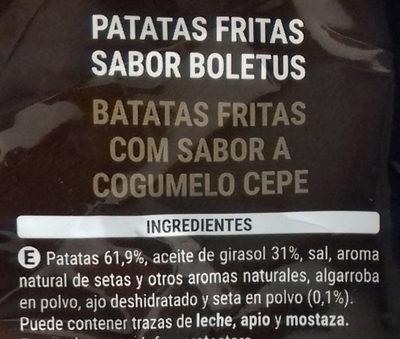 Patatas sabor Boletus - Ingredients