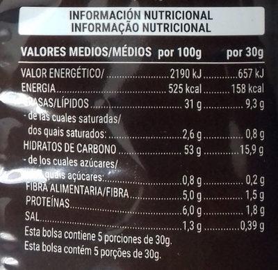 Patatas sabor Boletus - Nutrition facts