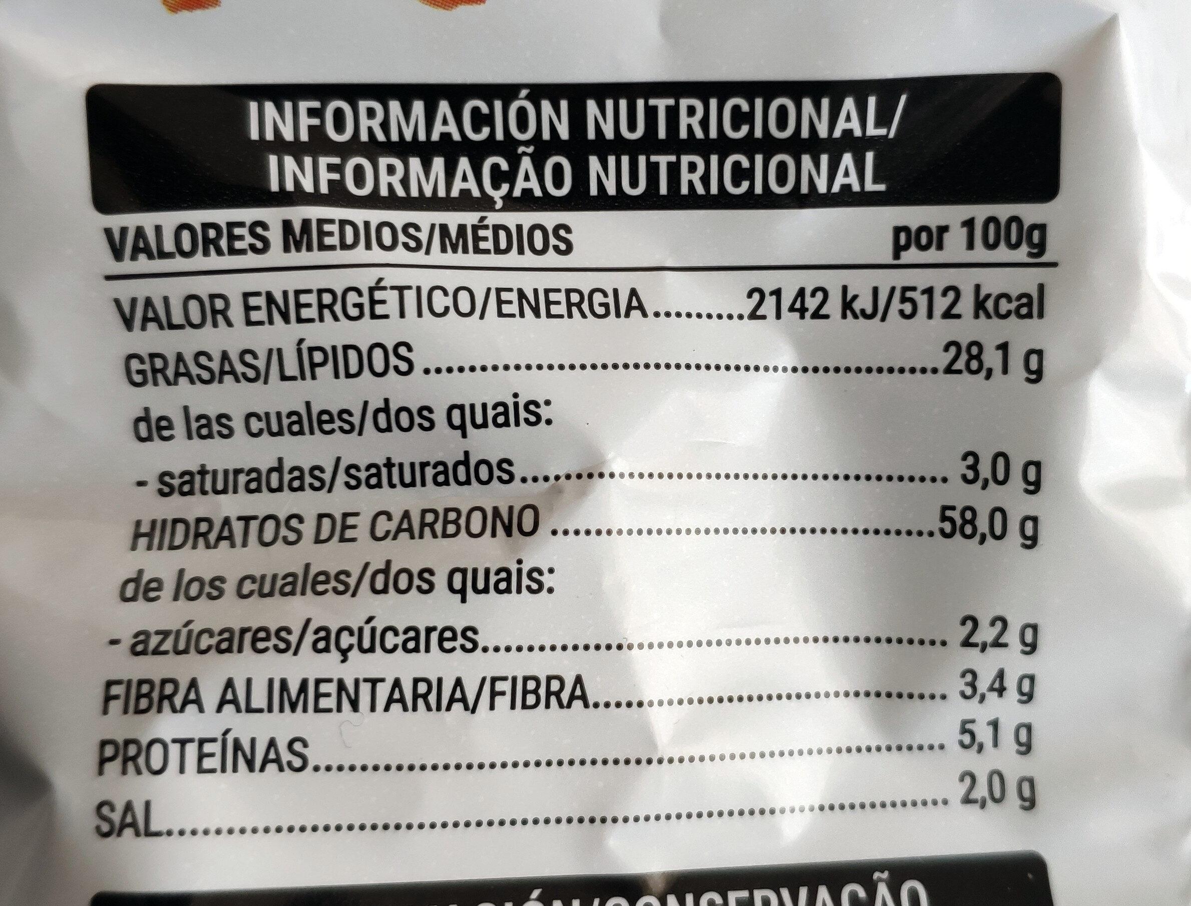 Cuquitos - Valori nutrizionali - es