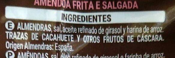 Almendra frita - Ingredients - es