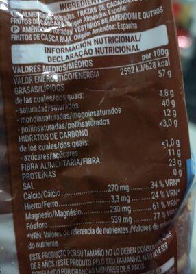 Almendra Tostada 0% Sal Añadida - Informations nutritionnelles - es