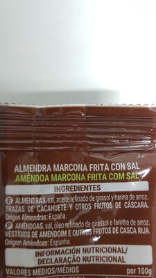 Almendra Marcona - Ingredients