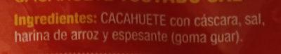 Cacahuete Tostado Sal - Ingredients