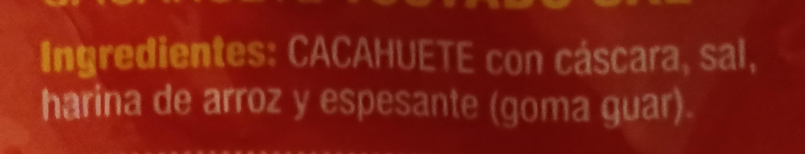 Cacahuete tostado sal - Ingredientes